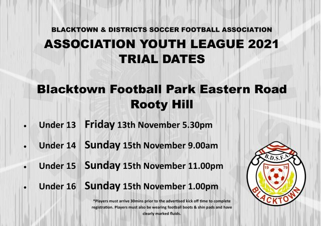 2021 AYL Trial Dates Announced